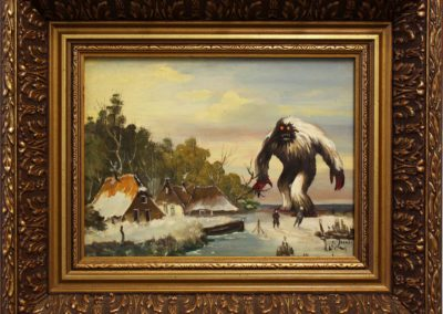 The Terrifying Yeti on thin ice