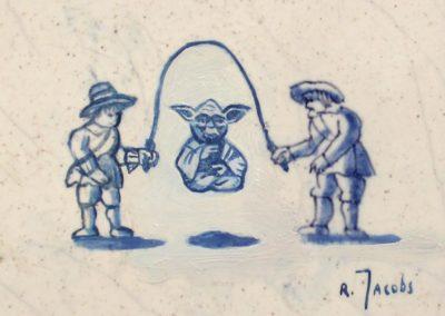 Blue Yoda skipping rope